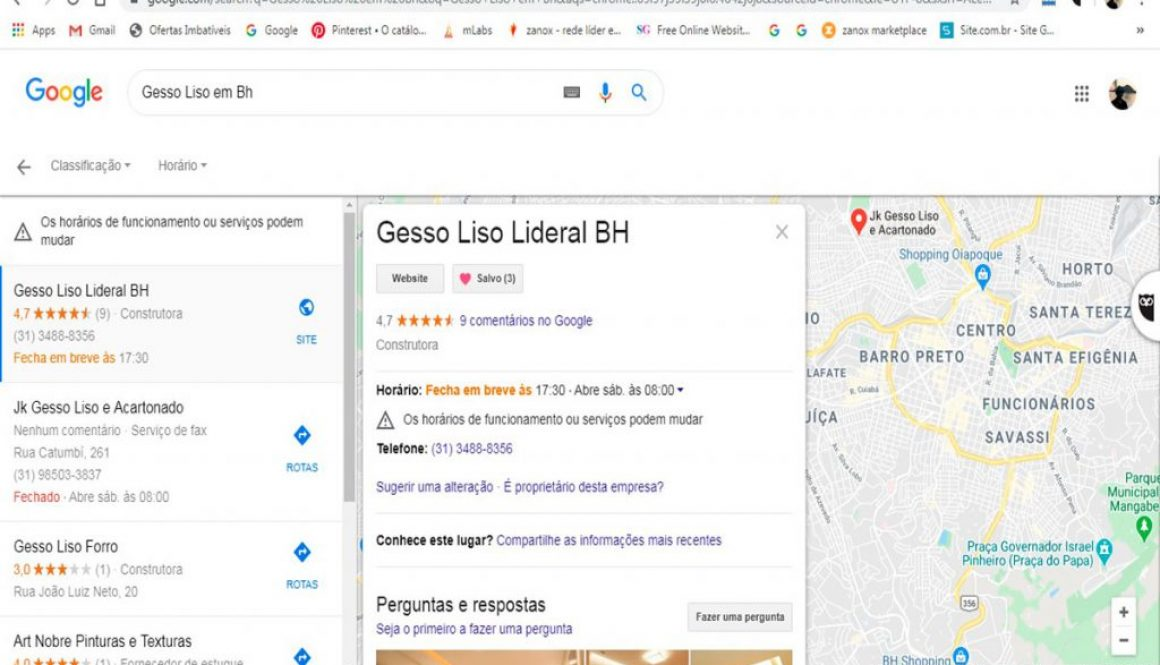 GESSO LISO LIDERAL BH